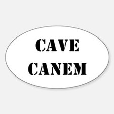"""Cave Canem """"Beware of Dog"""" Oval Decal"""