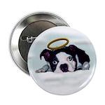 BOSTON TERRIER ANGEL LOOK Button