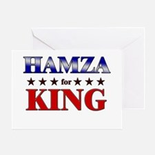HAMZA for king Greeting Card