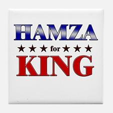 HAMZA for king Tile Coaster