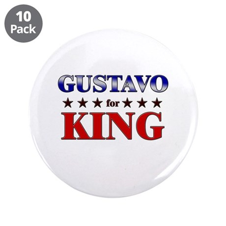 """GUSTAVO for king 3.5"""" Button (10 pack)"""