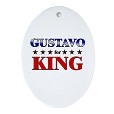GUSTAVO for king Oval Ornament