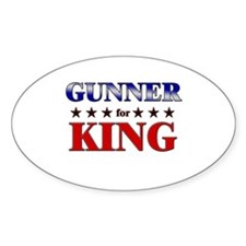 GUNNER for king Oval Decal