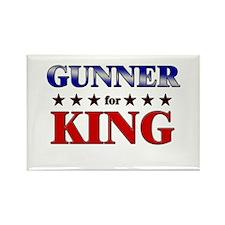 GUNNER for king Rectangle Magnet