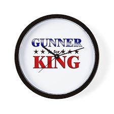 GUNNER for king Wall Clock