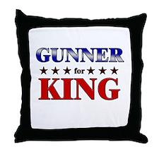 GUNNER for king Throw Pillow