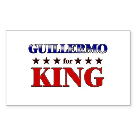 GUILLERMO for king Rectangle Sticker