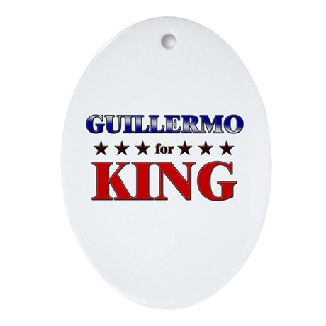 GUILLERMO for king Oval Ornament