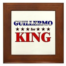 GUILLERMO for king Framed Tile