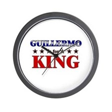 GUILLERMO for king Wall Clock