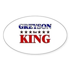 GREYSON for king Oval Decal