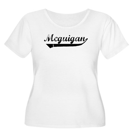 Mcguigan (vintage) Women's Plus Size Scoop Neck T-