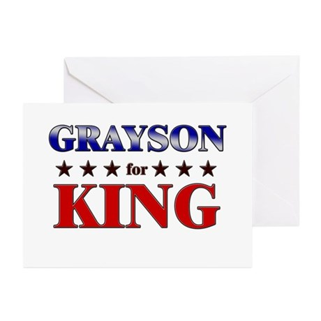 GRAYSON for king Greeting Cards (Pk of 20)