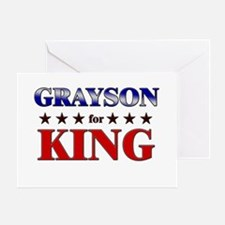 GRAYSON for king Greeting Card