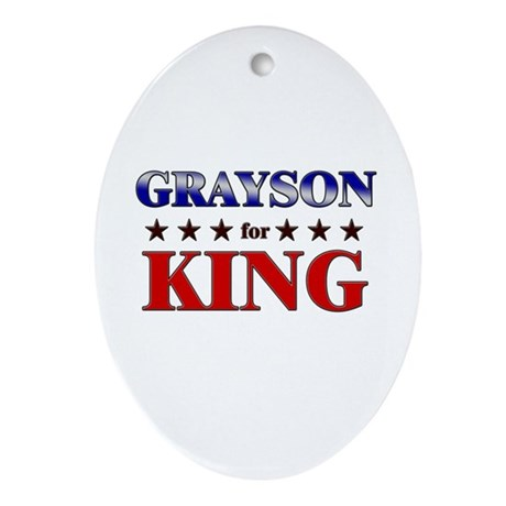 GRAYSON for king Oval Ornament