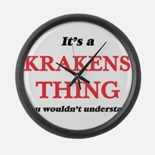 It's a Krakens thing, you wou Large Wall Clock
