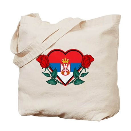 Heart Serbia Tote Bag