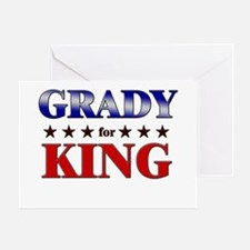 GRADY for king Greeting Card