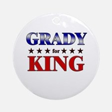 GRADY for king Ornament (Round)