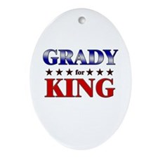 GRADY for king Oval Ornament