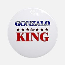 GONZALO for king Ornament (Round)