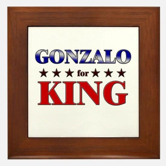 GONZALO for king Framed Tile