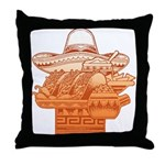 Mexican Holiday Throw Pillow