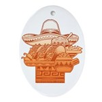 Mexican Holiday Oval Ornament