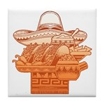 Mexican Holiday Tile Coaster