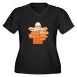 Mexican Holiday Women's Plus Size V-Neck Dark T-Sh