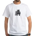 bulldogs sharing bone /no art on backWhite T-Shirt