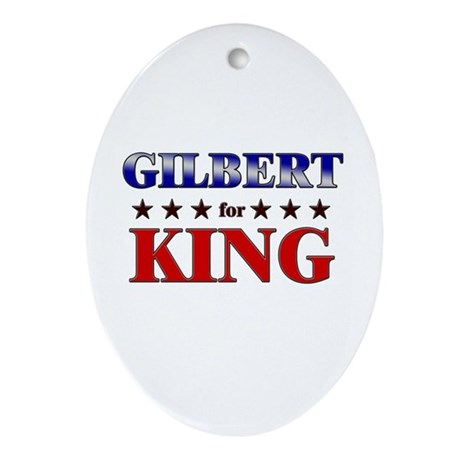 GILBERT for king Oval Ornament