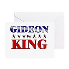 GIDEON for king Greeting Card
