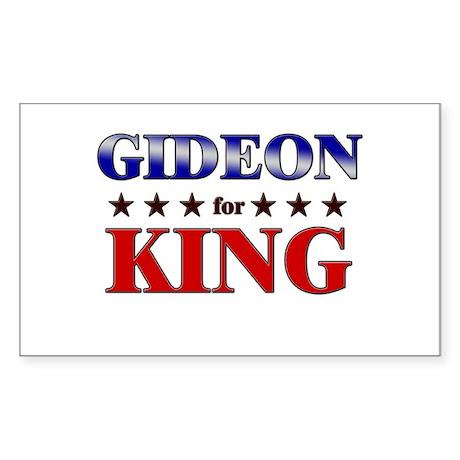 GIDEON for king Rectangle Sticker