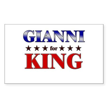 GIANNI for king Rectangle Sticker