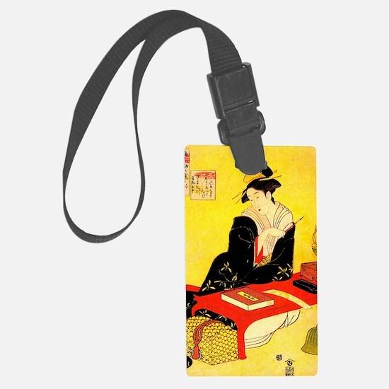 Cute Japanese geisha Luggage Tag
