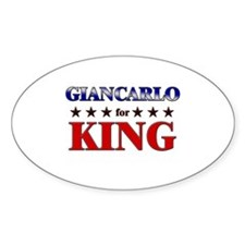 GIANCARLO for king Oval Decal