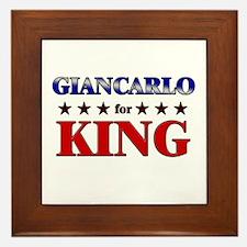 GIANCARLO for king Framed Tile