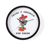 Tacos y Cerveza Wall Clock
