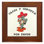 Tacos y Cerveza Framed Tile