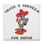 Tacos y Cerveza Tile Coaster