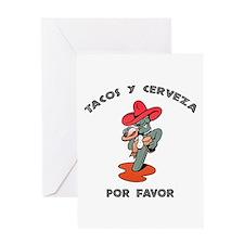 Tacos y Cerveza Greeting Card
