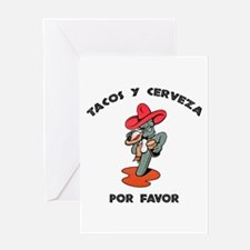 Tacos y Cerveza Greeting Card