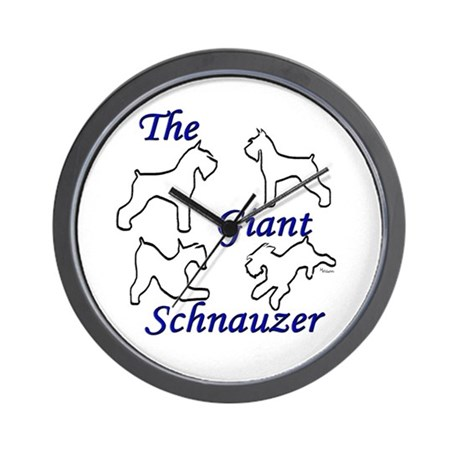 the giant schnauzer bymw Wall Clock