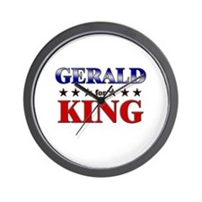 GERALD for king Wall Clock