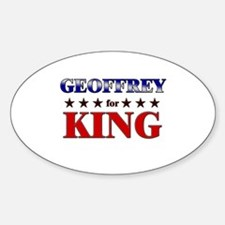 GEOFFREY for king Oval Decal