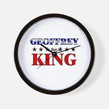 GEOFFREY for king Wall Clock
