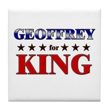 GEOFFREY for king Tile Coaster