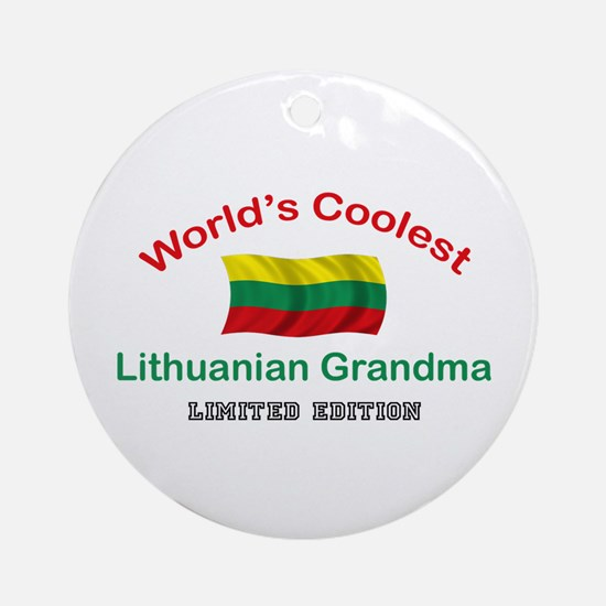 Coolest Lithuanian Grandma Ornament (Round)