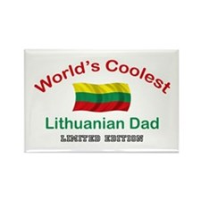 Coolest Lithuanian Dad Rectangle Magnet